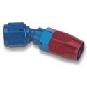 Picture of 30gr. PTFE AN fitting - Red / Blue - High Flow