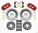 Picture of BMW E46 AERO6 Brake Kit with holes - RED
