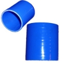 "Picture of 2½ ""/ 63mm. - 1 meter straight silicone hose - Blue"