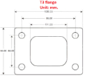 Picture of T3 turbo flange Alm. - SS304