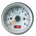 Picture of Autogauge - Tachometer - White - 52mm.