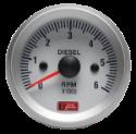 Picture of Autogauge - Tachometer - White - 52mm. - Diesel