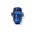 "Picture of AN4 Male - AN6 O-ring (9/16 ""x18 SAE UNF) Male - Nipple Fitting - Blue Alu"