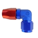 Picture of 90degrees. AN fitting - Red/Blue - Forged Elbow