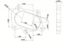 Picture of 5 bolted flange for turbo - Alm. iron - 14480
