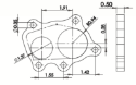 Picture of 5 bolted flange for turbo (2 hole departure) - Plain iron - 14490