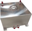 Picture of Drag racing Fuel cell - 40 liters - Silver - Without fuel meter - Billet fuel cap