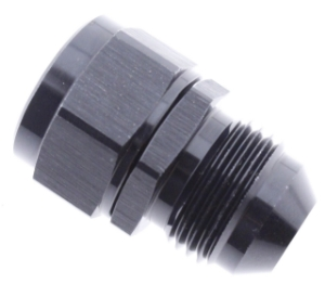 Picture of AN6 Male - M14x1.5 Female - Nipple adapter - Black alu