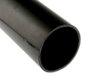 """Picture of 1.75 """"/ 44mm. - 1 meter straight silicone hose - Black"""