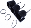 """Picture of Autogauge - """"Mounting cup"""" holder 3 instrument / holder"""