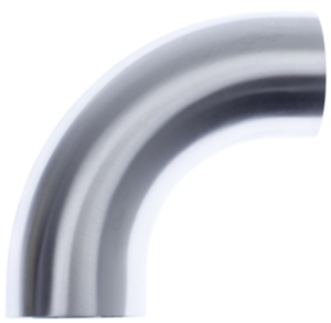 """Picture of 2½ """"stainless tube bend - 90 degrees - Without leg length"""