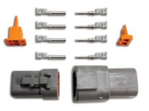 Picture of 4 pin - Deutsch connector - Male/Femal set - Incl. pins