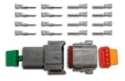 Picture of 8 pin - Deutsch connector - Male/Femal set - Incl. pins