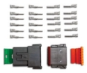 Picture of 12 pin - Deutsch connector - Male/Femal set - Incl. pins