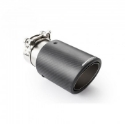 """Picture of 2.5"""" inlet to 3.5"""" outlet - Stainless steel and carbon fiber tailpipe"""