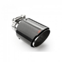 """Picture of 2.5"""" inlet to 4"""" outlet - Stainless steel and carbon fiber tailpipe"""